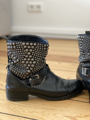 Sam edelman Biker Boots black-silver-colored