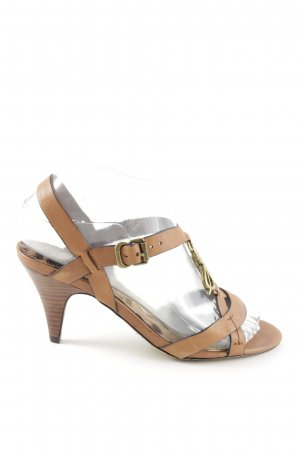 Sam edelman T-Steg-Pumps braun-goldfarben Casual-Look
