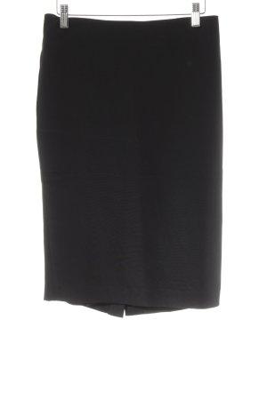 Samantha sung Zijden rok zwart zakelijke stijl