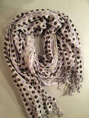 Sjaal met franjes veelkleurig Viscose