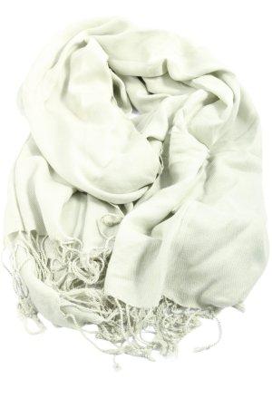 Samaya Écharpe à franges blanc cassé style décontracté