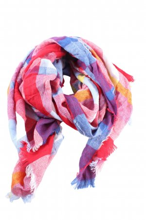 Samaya Fringed Scarf check pattern casual look