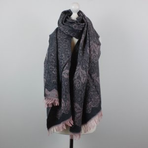 Samaya Fringed Scarf grey-pink mixture fibre