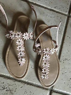 Colloseum T-Strap Sandals dusky pink