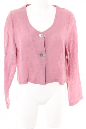 Sammer Berlin Leinenbluse pink Casual-Look