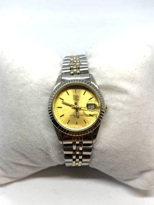 Orologio con cinturino di metallo oro-grigio chiaro