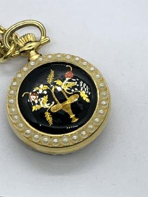 Vintage Orologio analogico oro-bianco