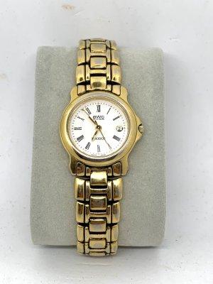 Zegarek z metalowym paskiem srebrny-złoto