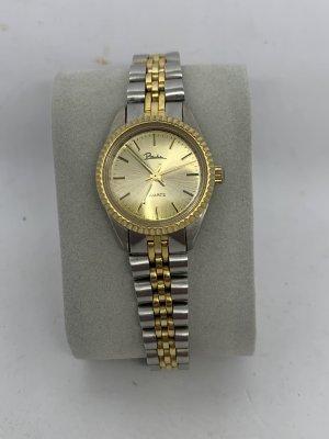 Vintage Montre avec bracelet métallique argenté-doré