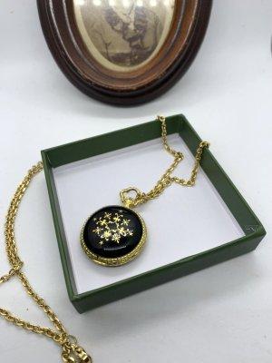 Vintage Reloj analógico color oro-negro