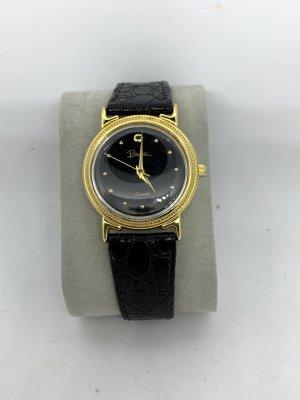 Sammlungsauflösung: Vintage Uhr Piranha, Gold/schwarz, Mediummodell