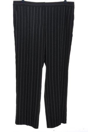 Samoon Baggy Pants schwarz-hellgrau Streifenmuster Casual-Look