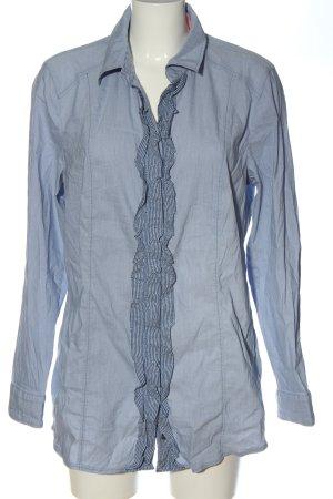 Samoon by Gerry Weber Hemd-Bluse blau-weiß Karomuster Business-Look