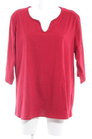 Samoon by Gerry Weber Print-Shirt rot-weiß Schriftzug gedruckt Casual-Look