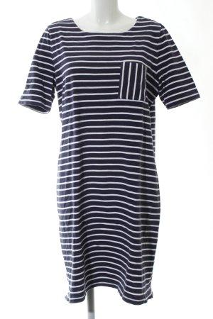 Samoon by Gerry Weber Shirtkleid blau-weiß Streifenmuster Casual-Look