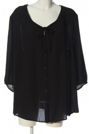 Samoon Hemd-Bluse schwarz Casual-Look