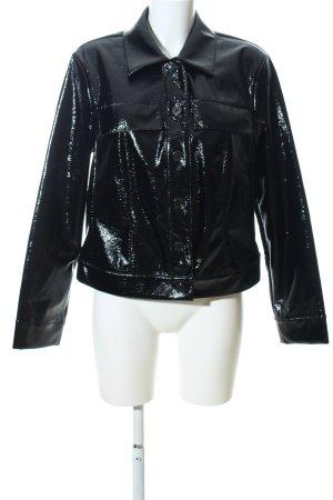 Samoon jacke schwarz extravaganter Stil