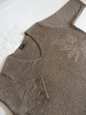 Samoon Pull tricoté vert foncé polyester