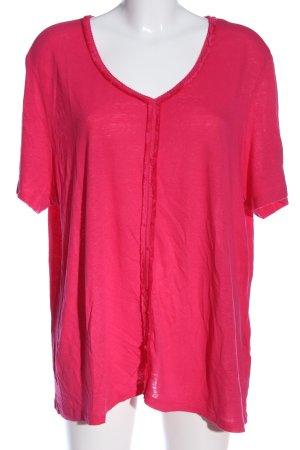 Samoon Kurzarm-Bluse pink Casual-Look