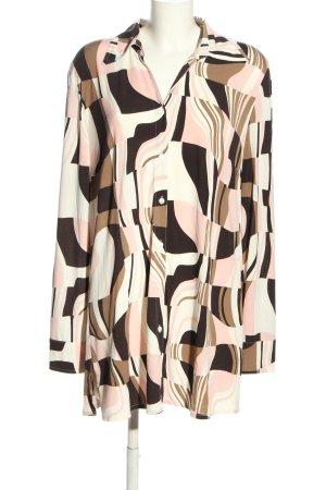 Samoon Langarm-Bluse abstraktes Muster Casual-Look