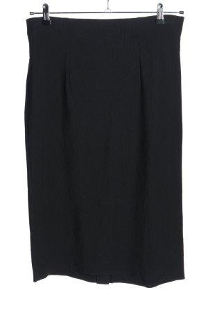 Samoon Falda stretch negro elegante