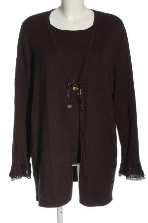 Samoon Ensemble en tricot brun style décontracté