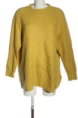 Samoon Pull tricoté jaune primevère style décontracté