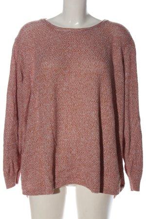 Samoon Pull tricoté rouge-blanc moucheté style décontracté