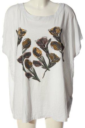 Samoon Strickshirt Motivdruck Casual-Look