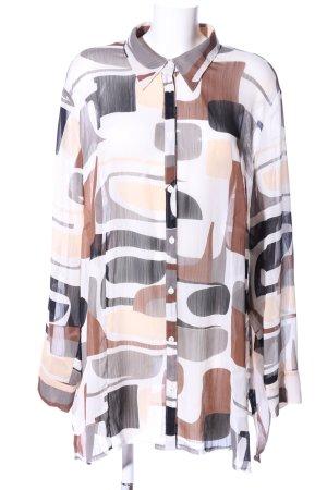 Samoon Transparenz-Bluse abstraktes Muster Casual-Look