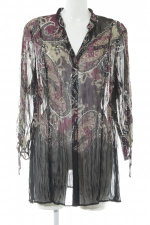 Samoon Transparenz-Bluse mehrfarbig Casual-Look