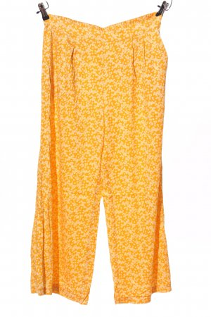 Samsøe & samsøe Baggy Pants hellorange-wollweiß Allover-Druck Casual-Look
