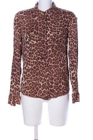 Samsøe & samsøe Camicia blusa marrone-crema Stampa leopardata stile casual