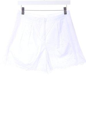 Samsøe & samsøe Pantaloncino a vita alta bianco Cotone