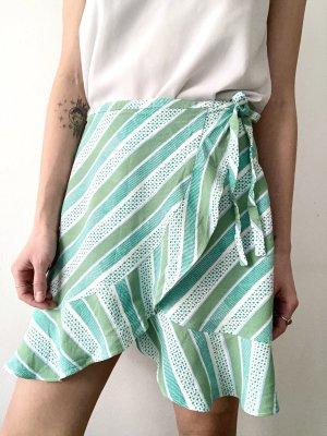 Samsøe & samsøe Wraparound Skirt white-lime-green viscose