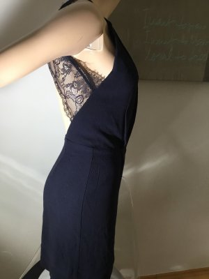 Samsoe Samsoe Kleid XS 34 blau mit spitzen Etuikleid