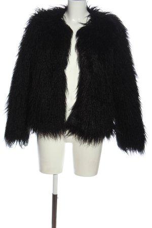 Samsøe & samsøe Cappotto in eco pelliccia nero stile casual
