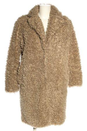 Samsøe & samsøe Cappotto in eco pelliccia marrone stile casual
