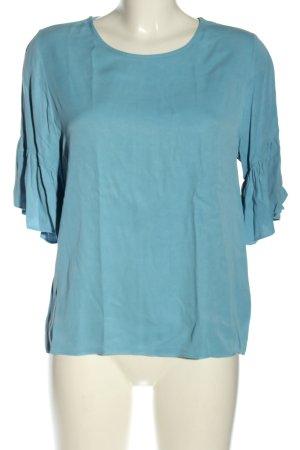 Samsøe & samsøe Kurzarm-Bluse blau Casual-Look