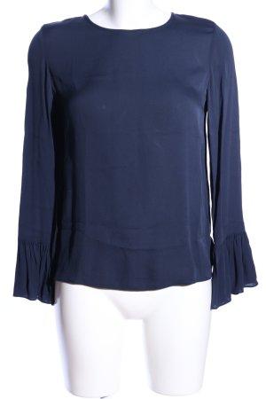Samsøe & samsøe Langarm-Bluse blau Business-Look