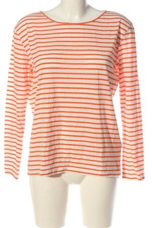 Samsøe & samsøe Koszulka z długim rękawem biały-jasny pomarańczowy