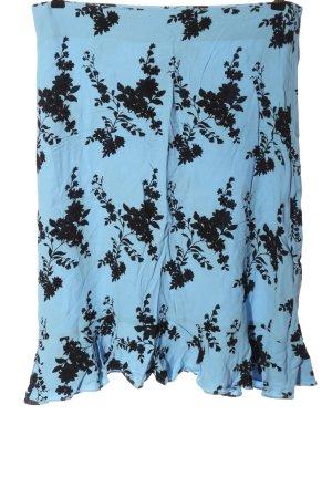 Samsøe & samsøe Minigonna blu-nero motivo floreale stile casual