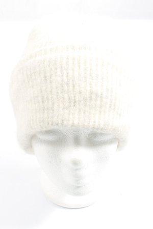 Samsøe & samsøe Sombrero de punto blanco estampado a rayas look casual