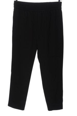 Samsøe & samsøe Pantalone jersey nero motivo a righe stile casual