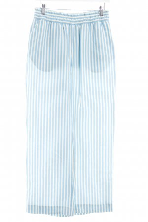 Samsøe & samsøe Stoffhose neonblau-weiß Streifenmuster extravaganter Stil