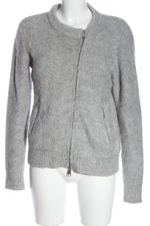 Samsøe & samsøe Giacca in maglia grigio chiaro puntinato stile casual