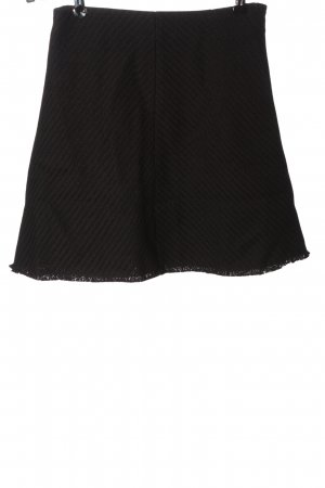 Samsøe & samsøe Knitted Skirt black striped pattern casual look