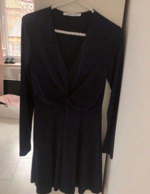 Samsoe samsoe wickelkleid  Abendkleid mit Knoten dunkelblau hochwertig