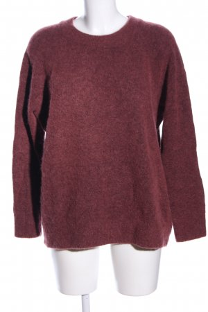 Samsøe & samsøe Jersey de lana rojo moteado look casual