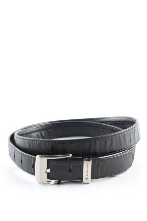 Samsonite Cinturón de cadera negro-color plata estilo «business»